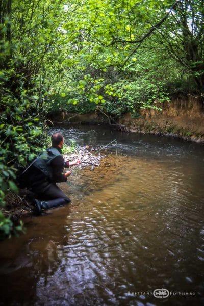 Pêche à la mouche sur l'Aulne Rivière
