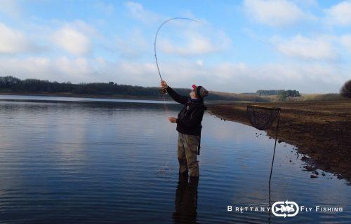 Pêche à la mouche du bord